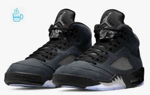"""Air Jordan 5 """"Anthracite"""" DB0731-001 Released On February 24, 2021"""