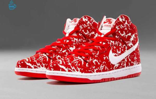 "313171-616 Nike SB Dunk High"" Raw Meat"" Challenge Red / White Sneaker Outlet Online Sale"