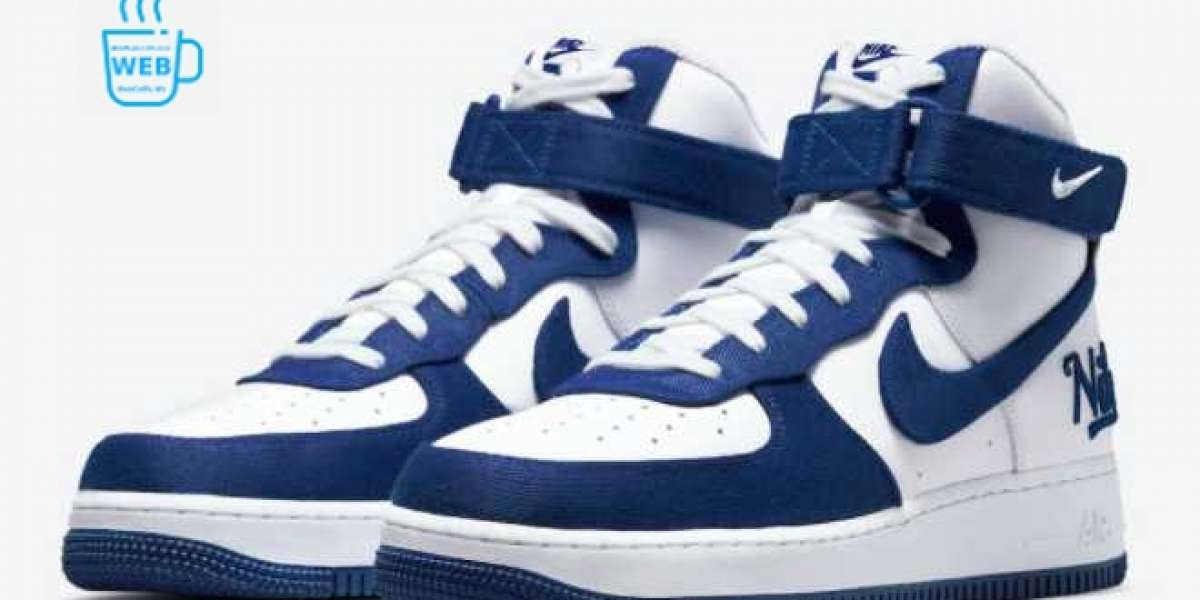 "2021 Latest Nike Air Force 1 High EMB ""Dodgers"" DC8168-100"