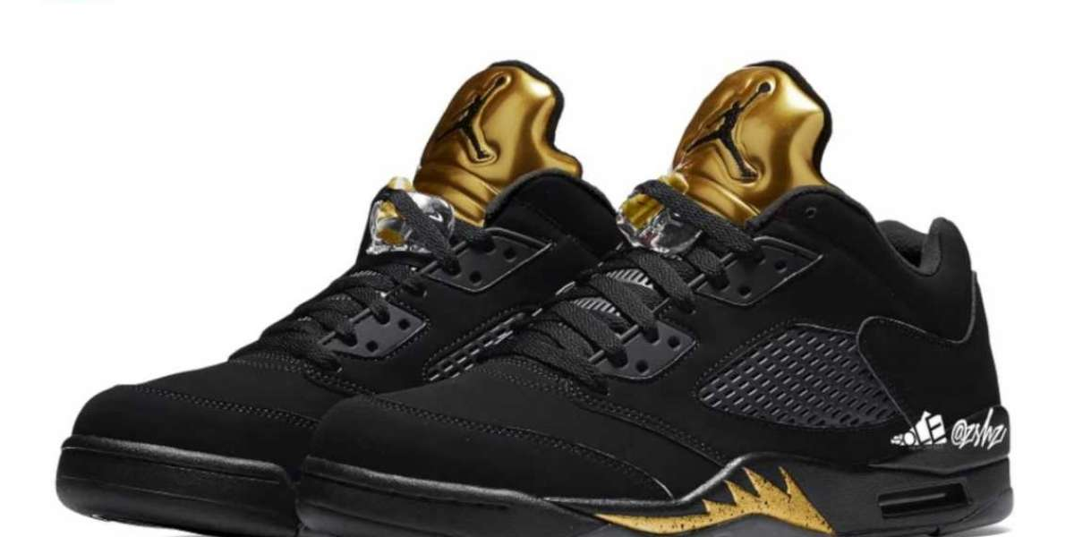 "Air Jordan 5 Low ""Black/Metallic Gold"" will be released in May"